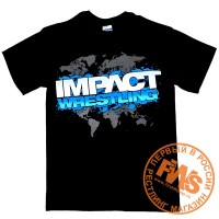 TNA Impact Wrestling Black T-Shirt - размер S